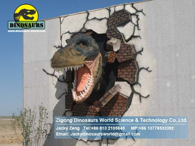 Gate decoration dinosaurs wall DWE030