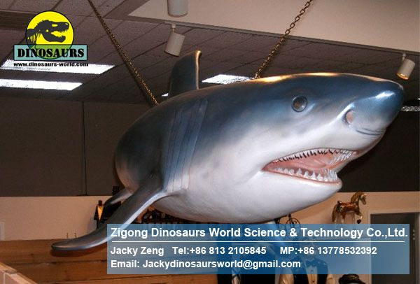 Life size fiberglass statues animatronic exhibition animals ( Shark ) DWA024