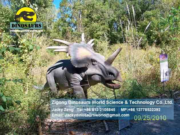 China robotic dinosaur equipment move dinosaurs Styracosaurus DWD178