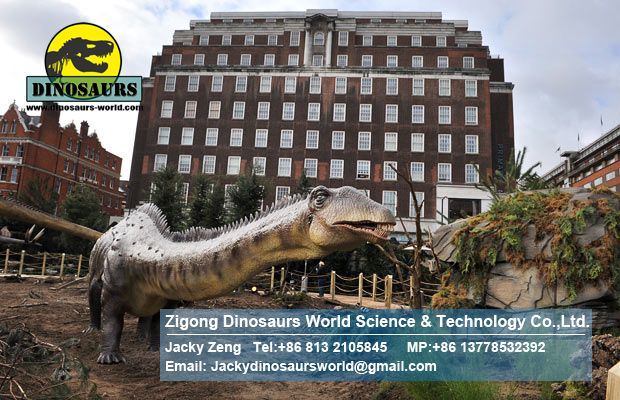 Young Diplodocus in Dinosaur exhibition DWD1329-1