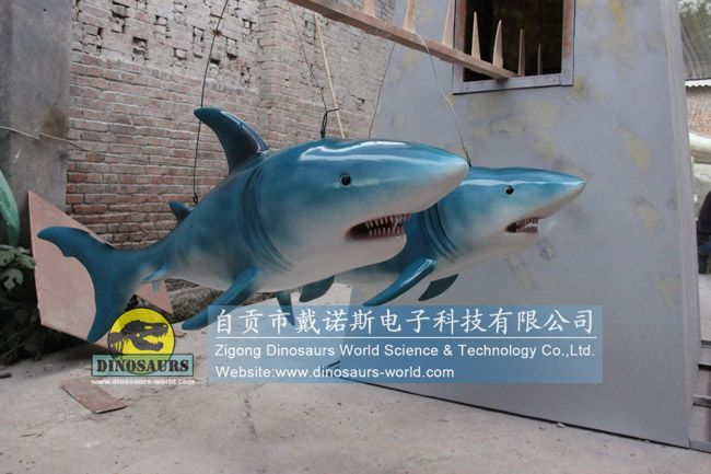 Chinese Customer Ordered fiberglass Shark replica for his Ocean Attraction Exhibition DWA140