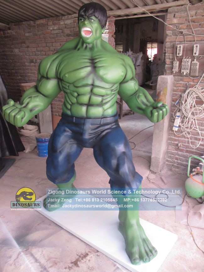 Hollywood Movie Green Hulk Hero Fiberglass Model DWC016-1