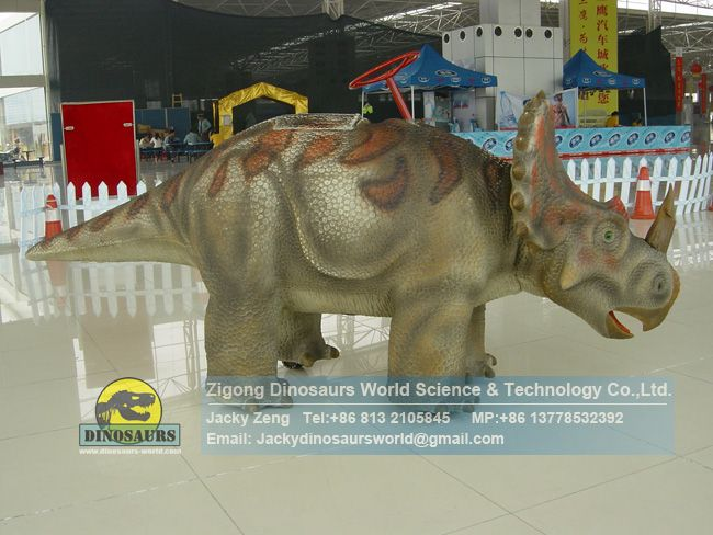 Robotic Walking Dinosaur Ride Baby Centrosaurus For Children DWW007