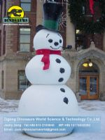 Animatronic Christmas snowman in street for christmas decoration DWC014