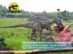 Animatronic Dinosaurs taking the food (Spinosaurus) DWD192