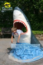 Playground shark head for children take photos DWE025