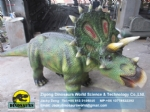 Animatronic Simulation Walking Dinosaur of Triceratops Ride DWE040