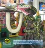 Amusement Park High Quality Robotic Snake Model DWA031-2