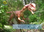 Life size Water Splitting Dilophosaurus model in Dinopark DWD1468