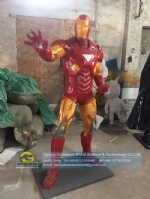 Cartoon character Iron Man Human Scale artificial sculpture DWC058-1
