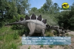 life size artificial electric dinosaur family stegosaurus with babies DWD1443