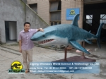 Ocean Theme Exhibition customized electronic shark animation DWA159